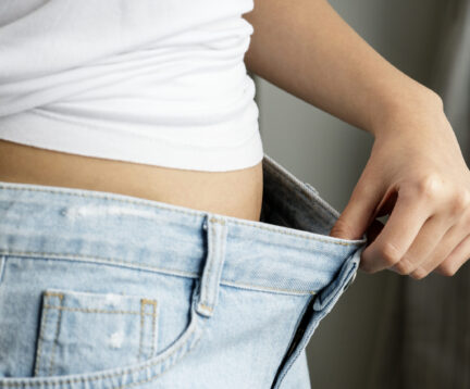 Asian woman weight loss and diet concept